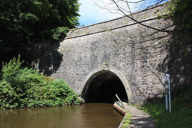 The entrance to Chirk tunnel