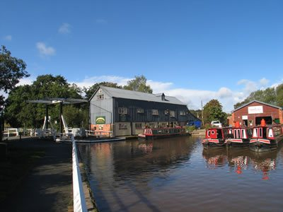 Wrenbury Marina on the Llangollen